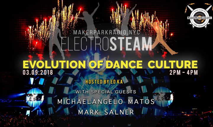 Electrosteam w. Mark Salner & Michaelangelo Matos – Live at MakerParkRadio.nyc 03/09/2018 (2 of 4)