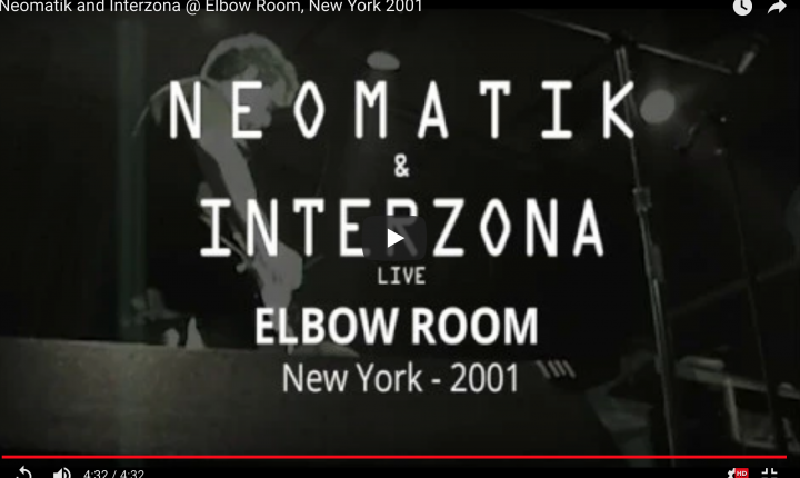 Neomatik and Interzona @ Elbow Room, New York 2001