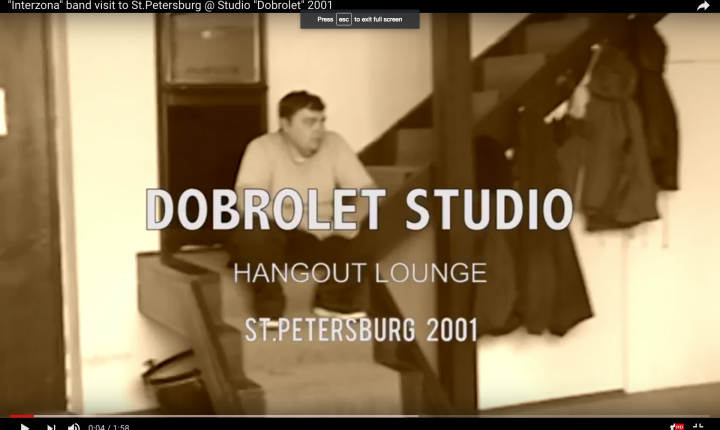 """Interzona"" band visit to St.Petersburg @ Studio ""Dobrolet"" 2001"