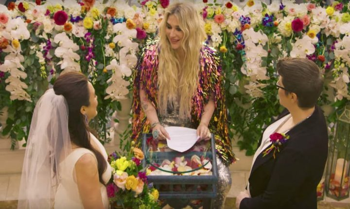 See Kesha Officiate Same-Sex Wedding in New 'I Need a Woman to Love' Video