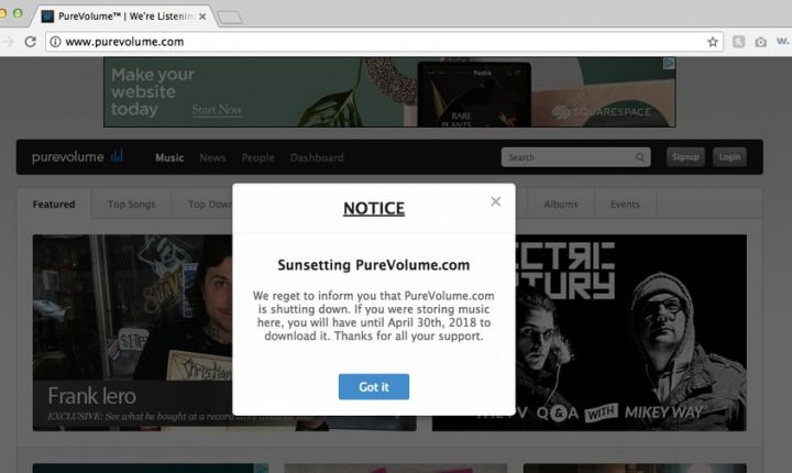 Music Discovery Site PureVolume Shutting Down