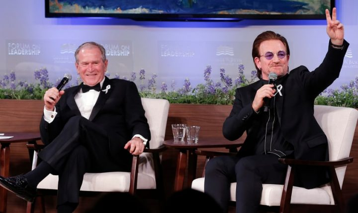 Bono Awarded George W. Bush Medal for Distinguished Leadership for AIDS Work