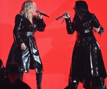 BBMAs: See Christina Aguilera, Demi Lovato's Rousing 'Fall in Line' Duet