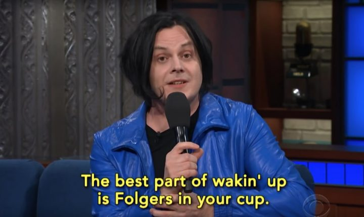 Watch Jack White Sing Extended Commercial Jingles With Stephen Colbert