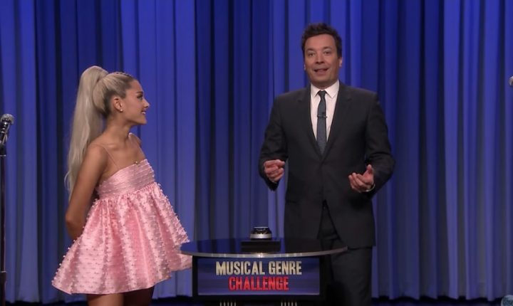 See Ariana Grande Channel Goth-Rock Kendrick Lamar on 'Fallon'