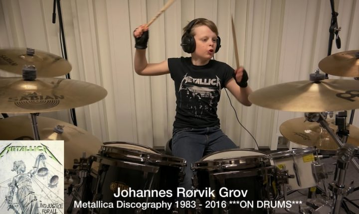 Watch 10-Year-Old Drummer Cover Metallica's Entire Discography in 12 Minutes