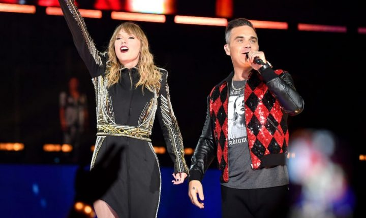 Watch Taylor Swift, Robbie Williams Perform 'Angels' in London